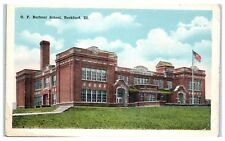 Early 1900s O.F. Barbour School, Rockford, IL Postcard