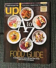 UP Westjet Airline A to Z Food Guide October 2014 Inflight Magazine
