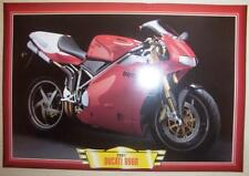 DUCATI 996R 996 R MODERN CLASSIC MOTORCYCLE BIKE Y2K PICTURE PRINT 2001