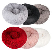 Comfy Calming Dog/Cat Bed Round Super Soft Plush Pet Bed Marshmallow Cat Bed dm