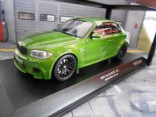 Bmw 1er serie M Sport m1 1m verde Green e82 2011 precio especial Minichamps 1:18