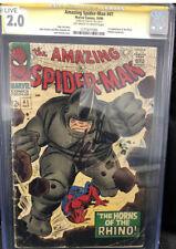 Amazing Spider-Man #41 CGC 2.0 SS Stan Lee Auto