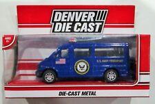 "Denver die cast U. S. Navy transport blue Menards exclusive diecast approx 3.5"""