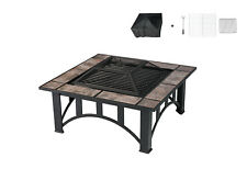 "33"" Fire Pit Patio BBQ Heater Backyard Fireplace Stove Burning Brazier Outdoor"