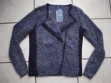Strickjacke Cardigan Jacke Tom Tailor Gr. M 38/40 blau NEU mit Etikett