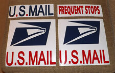 US MAIL Carrier Decal Magnet USPS Set - Ready for the Road! 4 Vehicle Signs