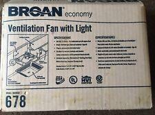 Broan 678 Bathroom Fan, 50 Cfm, 1.6A
