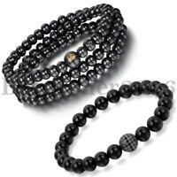 2pcs Sandelholz buddhistischen Buddha Achat Gebet Perlen Perlen Mala Armband