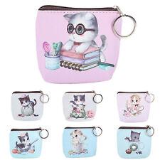 Fashion Cartoon Cat Face Zipper Case Mini Coin Purse Key Wallet Bag Pouch Pocket