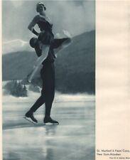 ICE FIGURE SKATING. Dr. Manfred & Hazel Curry - München 1935 old vintage print