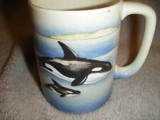 Otagiri Mug Cup W Black & White Killer Whale, Whales Japan