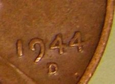 1944 D/S  LINCOLN WHEAT PENNY, CENT, (OMM 002) LCR TOP 50  ERROR COIN , AJ 701