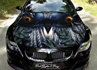 Owl Car Bonnet Wrap Decal Full Color Graphics Vinyl Sticker #131