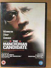 Denzel Washington Meryl Streep MANCHURIAN CANDIDATE ~ 2004 Thriller Remake DVD