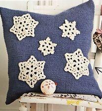 Ch11 - Crochet & Knitting Pattern - Christmas Snowflake Cushion Cover