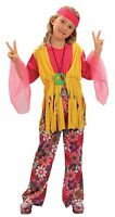CHILD GIRLS HIPPY COSTUME FOR FANCY DRESS PARTY 4 SIZES