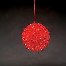 Konstsmide 6503-550 LED Lichterball Lichterkugel rot Ball Fensterdeko 100 LEDs