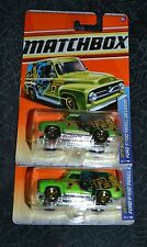 2011 MATCHBOX CITY ACTION FORD F-100 PANEL DELIVERY 69/100 SET OF TWO