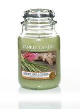 YANKEE CANDLE Candela profumata Lemongrass & Ginger giara grande durata 150 ore