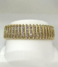 6.81 ct Round CZ Dia Large Womens Tennis Bracelet in 14k Yellow Gold Plated