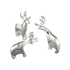 Nambe Blitzen Reindeer Figurine Set