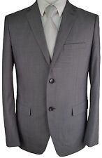 #W890 NEW THEORY WELLAR M_SORDALE Grey Striped 100% Wool 2 Button Blazer 42R