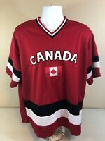 Vintage Team Canada Hockey Jersey Mens 2XL Red