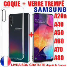 SAMSUNG A50 A40 A70 A20e A10 A80 J4 Plus J6 COQUE FILM VERRE TREMPE  PROTECTION