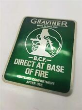 "Vintage ""Graviner"" Military Aircraft Vehicle Fire Extinguisher Foil Label Decal"