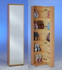 """Penny 8"" Mirrored Shoe Storage Cabinet/Cupboard. Shoe Rack Furniture Solution."