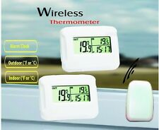 IM102 LCD Digital Wireless Thermometer 2 clock  with outdoor temperature 433Mhz