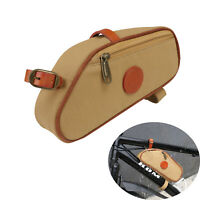 Tourbon Bike Triangle Frame Bag Case Tube Tools Pouch Canvas Waterproof Cycling