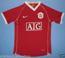 MANCHESTER UTD / 2006-2007 Home - NIKE - JUNIOR Shirt / Jersey. 10/12y 140-152cm