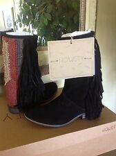NEW ANTHROPOLOGIE  Howsty Durie Midi Suede Fringed Boot EU37 (6.5M) MSRP $280
