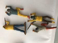 7 figurines indien divers avec une tante starlux 6cm