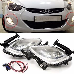 OEM Parts Fog light Lamp with wire LH RH 2 Sets For HYUNDAI 2011 - 2013 Elantra