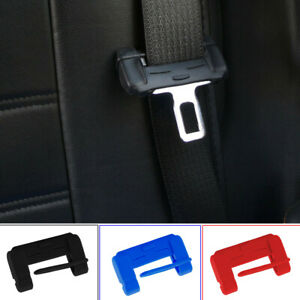 1x Car Auto Seat Belt Buckle Clip Silicone Anti-Scratch Cover Safety Accessories