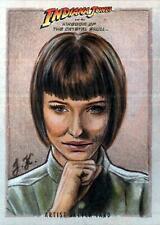 Indiana Jones Irina Spalko Cate Blanchett Sketch Card Topps Art Movie Drawing