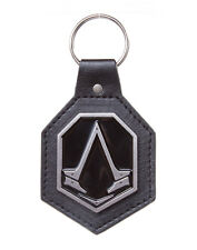 ASSASSIN'S CREED SYNDICATE PATCH WITH METAL LOGO KEYCHAIN KEYRING LEATHER BADGE