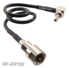 8-inch FME Male to Right-Angle CRC9 Male 50-ohm RG174 Coax Antenna Cable