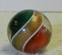 #12122m Vintage German Handmade Divided Ribbon Swirl Marble .67 Inches