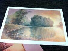 """BEN HAMPTON  """"Evening Lilies"""" 1986   Landscape/Dealer/Medium S/O Lithograph"""
