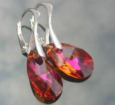 Crystal Pear Costume Earrings