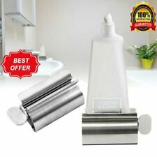 Rolling Tube Toothpaste Squeezer Easy Dispenser Holder Stand Stainless Steel Y1