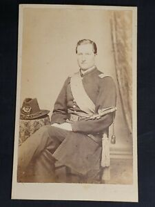 Antique Cabinet Photo - Civil War Soldier Captain Leonard Wood of Massachusetts