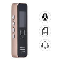 Ricaricabile Digital Audio Sound Vocale Registratore Dictaphone MP3 Lettore Q8K3