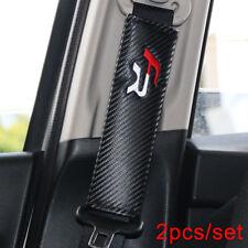 Carbon car seat belt shoulder pair covers 2x interior accessories SEAT FR
