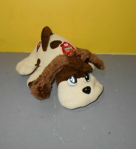 2000 Pound Puppies Plush Jakks Puppy Dog w/ Red Collar Wags Tail and Barks Toy