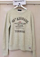 "Polo Ralph Lauren U.S.R.L Sweatshirt ""48th Airbase Training"" Grey Size S"