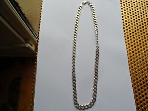 Mens Heavy Solid 925 Sterling Silver Curb Chain Weight 60g